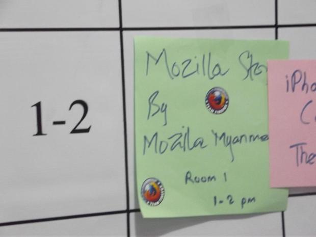 Mozilla Myanmar session at Barcamp Mandalay